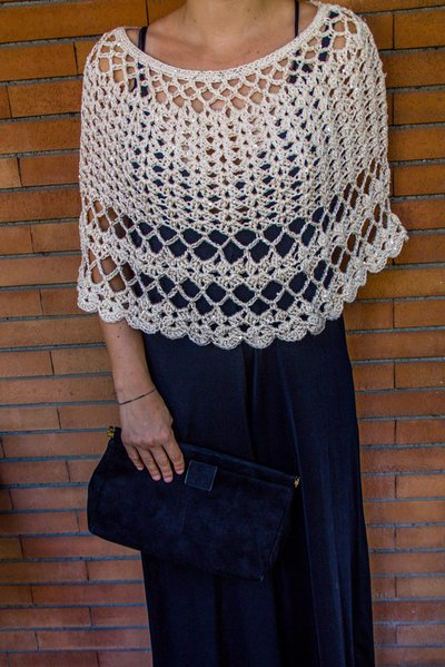 Mantellina elegante in cotone