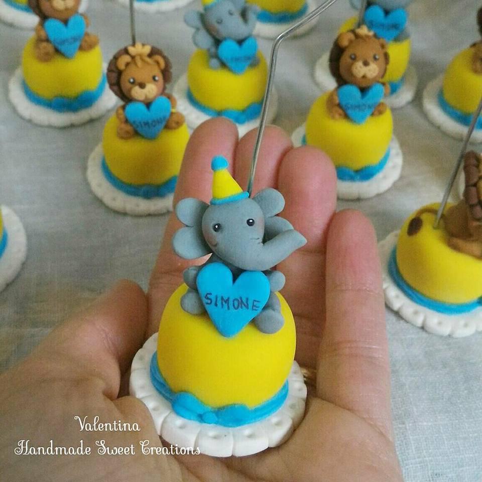 Mini cake elefantino segnaposto bomboniera