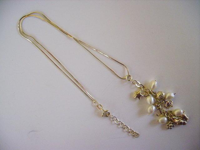 collanina elegante in argento e perle