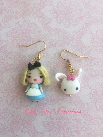 Pendenti Alice e il Bianconiglio