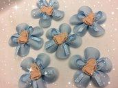 Bomboniere fiore azzurro con piedini