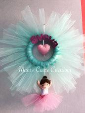 Fiocco Ballerina- ghirlanda Tulle