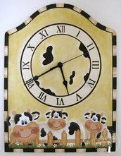 orologio country con mucche