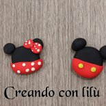 Magnete minnie o mickey mouse fimo