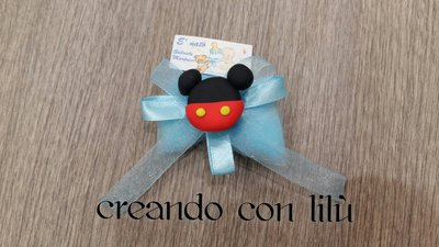 Bomboniera compleanno nascita michey mouse fimo