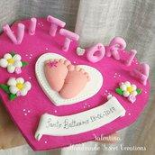 Cake topper Piedini con nome
