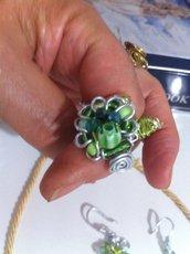 Anello tecnica wire colore verde