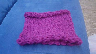 Scaldacollo in lana lilla