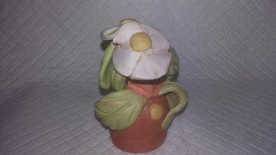 Novita'!statuetta fiori fatti a mano argilla terracotta che asciuga all'aria opera unica