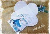 Petal card compleanno tema Frozen handmade