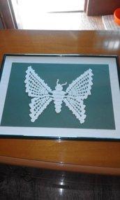 quadro farfalla uncinetto