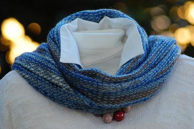 Sciarpa unisex azzura