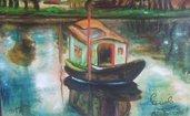 originale,dipinto d'autore,splendido Olio su tela cm,30x40,artista Antonio Cariola