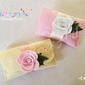 Bomboniera Sacchetto Porta Confetti con Rosa