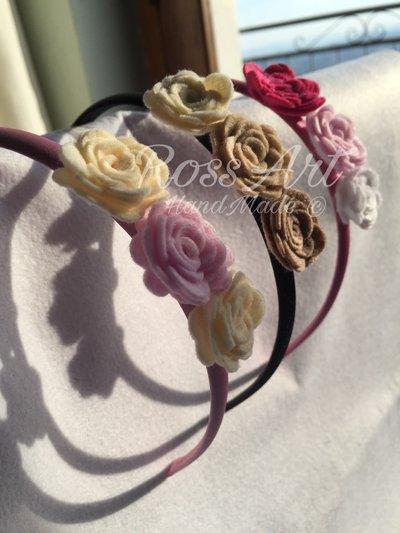 in vendita 2019 autentico comprare in vendita Cerchietto per Capelli in feltro con Rose e Farfalle