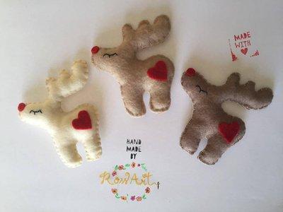 Decorazioni Natalizie Renna per l'Albero di Natale