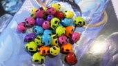 Perle miste teschio 3D multicolori