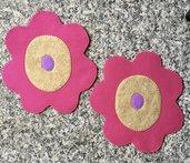 pattine fiorelloni in feltro