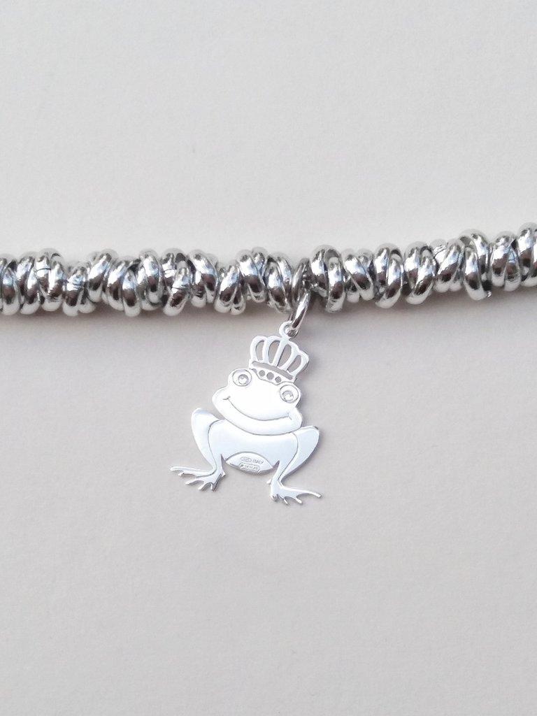Bracciale con principe ranocchio in argento 925