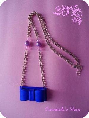 Collana blue-bow