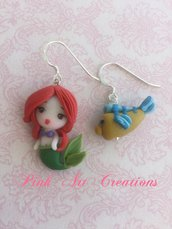 Pendenti Ariel e Flounder
