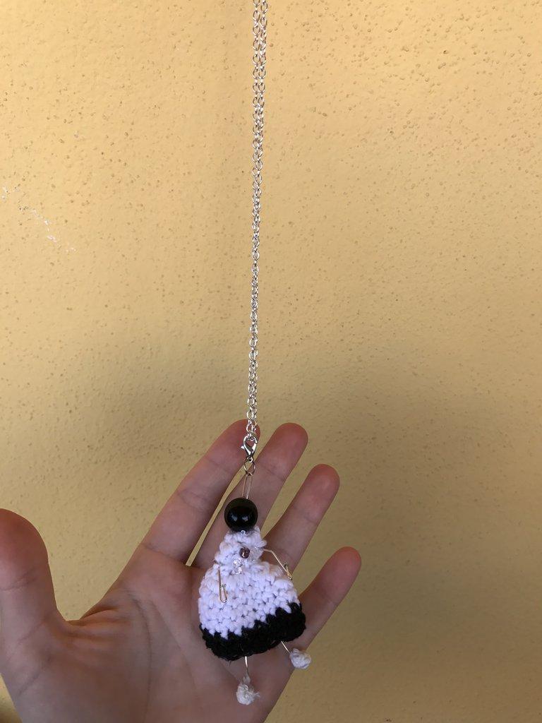 *Collana contro malocchio sarda perla nera