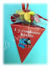 Favors Party: coni porta caramelle per compleanni Trenino Thomas