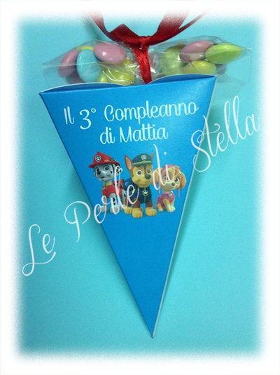 Favors Party: coni porta caramelle per compleanni Paw Patrol