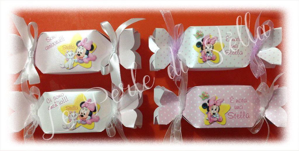 Scatolina a forma di caramella personalizzabile per Nascita, Battesimo, Compleanno...