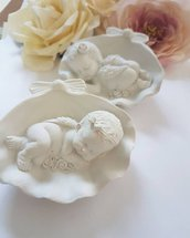 Bimba su conchiglia in gesso ceramico extraduro