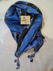 Foulard gioiello sui toni del blu