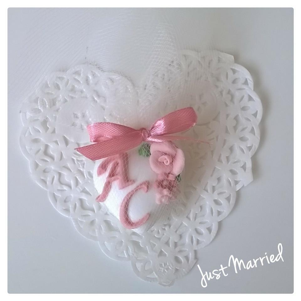 Segnaposto Matrimonio Rosa Cipria.Segnaposto Per Matrimonio Confetti Decorato Rosa Cipria Feste