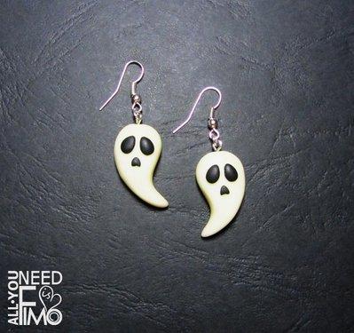 Orecchini fantasmi | orecchini halloween | orecchini fosforescenti | orecchini horror | orecchini fimo | orecchini fluorescenti