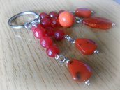 Portachiavi perle rosso