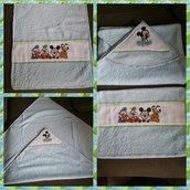 Set accappatoio quadrato e asciugamano