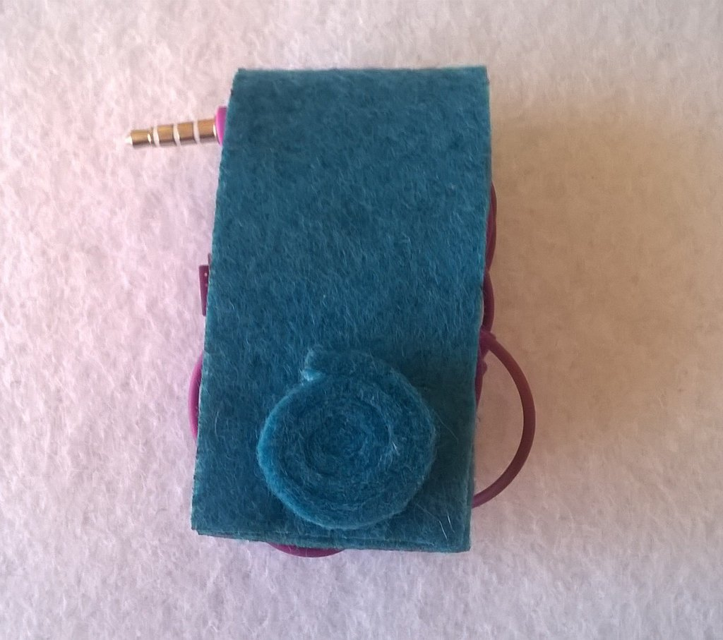 Porta auricolari porta cuffiette blu avvolgi cavi unisex