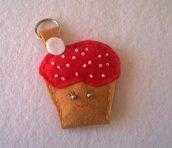 Portachiavi porta chiavi cupcake in feltro