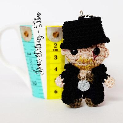 James Delaney portachiavi amigurumi uncinetto bambola Tom Hardy Taboo