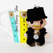 James Delaney portachiavi amigurumi uncinetto bambola Tom Hardy Taboo