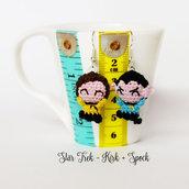Star Trek orecchini amigurumi uncinetto Spock e Kirk