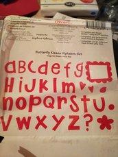 Fustellati lettere alfabeto