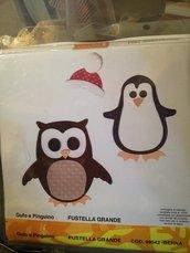 Fustellati a forma di gufetto oppure pinguino
