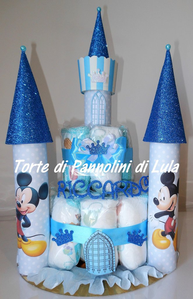 Super Torta di Pannolini Pampers Castello - idea regalo, originale ed  AG97