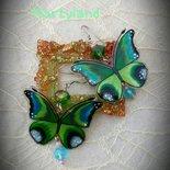 Orecchini farfalla verde