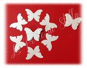 Farfalle per coni, menù, inviti, confettate... cm. 8