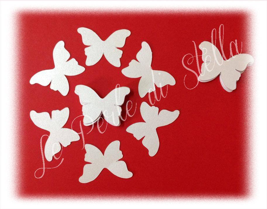 Farfalle per coni, menù, inviti, confettate... cm. 9