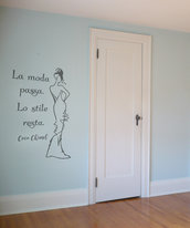 Adesivo murale Fashion con frase celebre