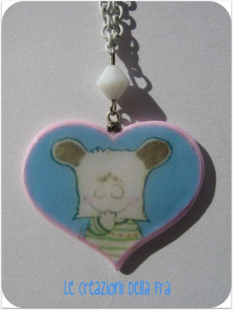 Collana Spank-cuore rosa (1)