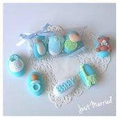 confettata nascita, battesimo, confetti decorati, bimbo