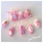 confettata nascita, battesimo, confetti decorati